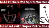 boAt Rockerz 255 Sports Wireless Headset with Super Extra Bass, IPX5 Water & Sweat Resistance, Qualcomm Chipset and Up to 6H Playback (Raging Red)
